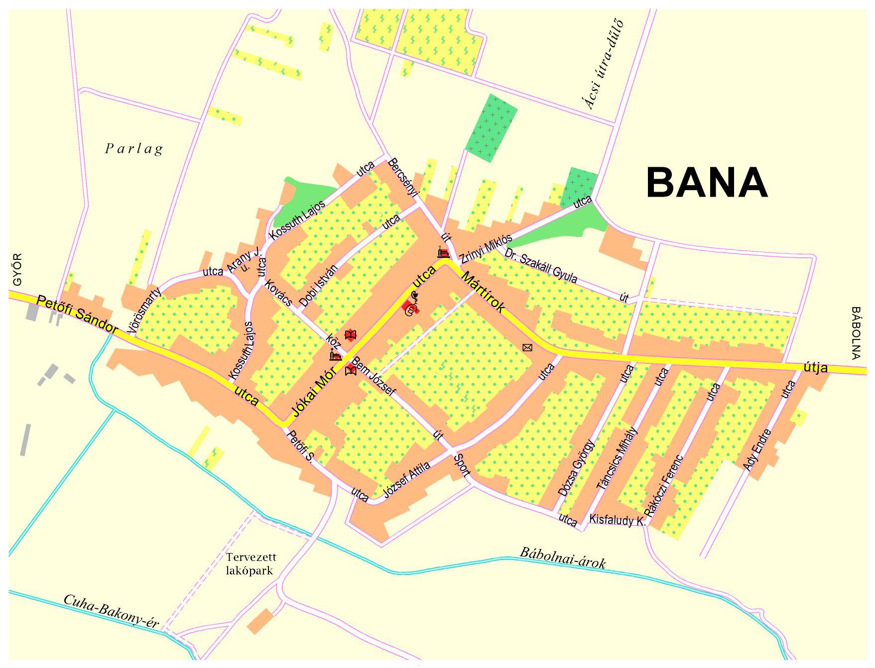 bana térkép Bana Község honlapja